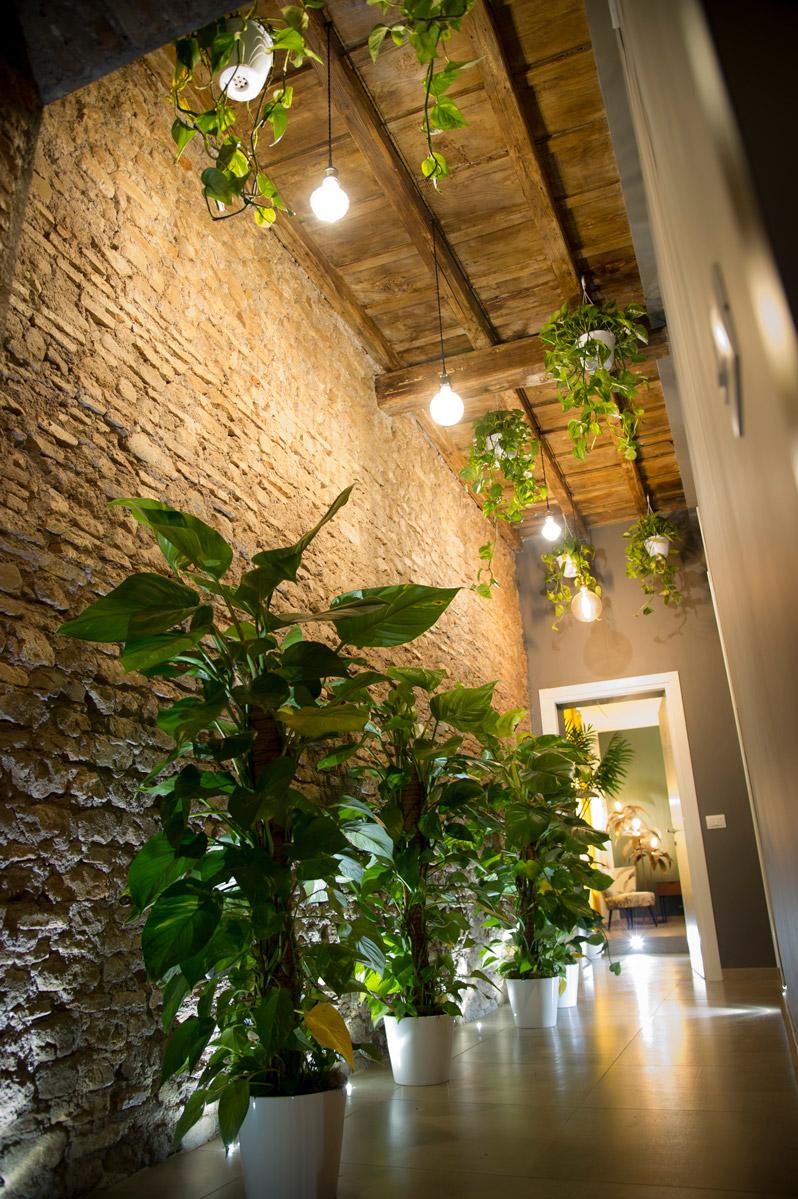Splendido e suggestivo corridoio nel Bed & breakfast in Via della Torre Clementina 80 a Fiumicino