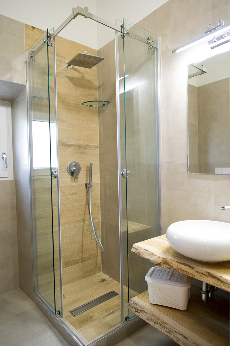 Bagno nella Camera JUNGLE del Bed and Breakfast in Fiumicino Le Boutique Luxury Resort